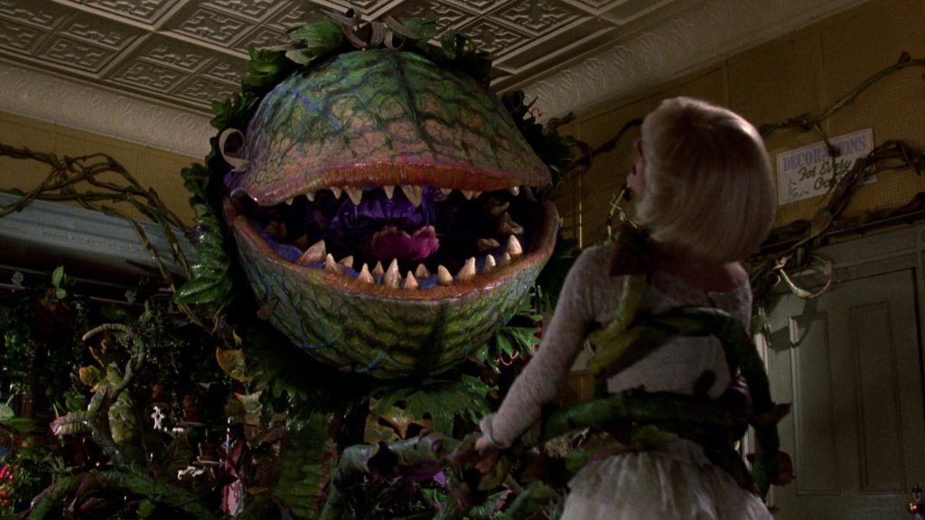 "Audrey II vs. Audrey in ""Little Shop of Horrors"""