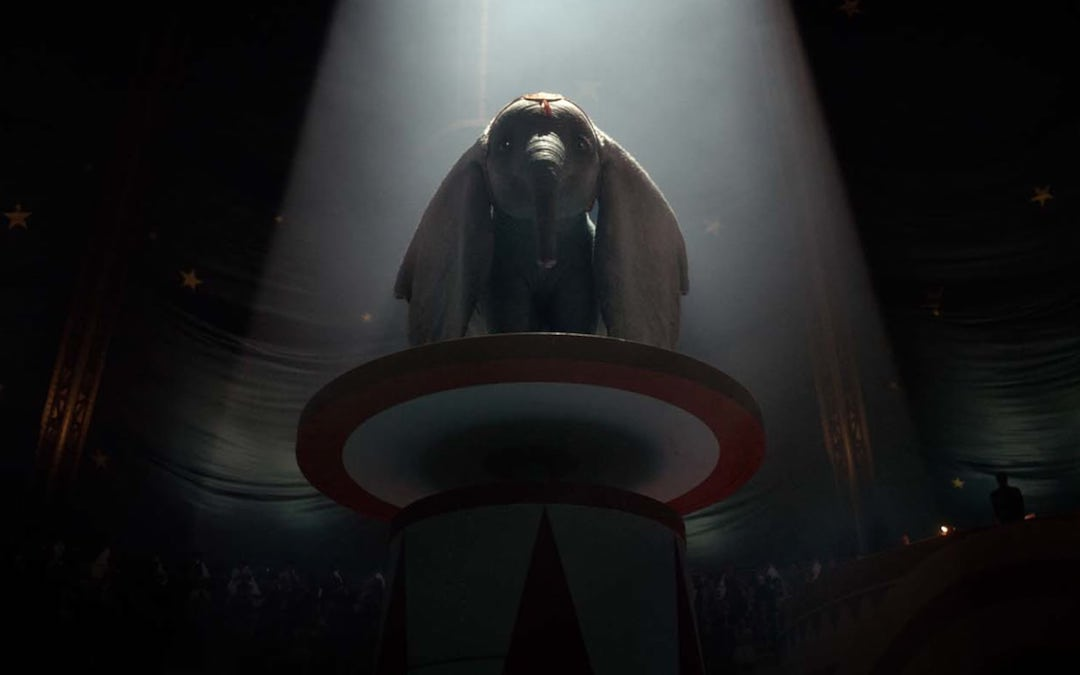Little Dumbo prepares to fly (Credit: Walt Disney Pictures)