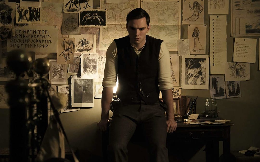 Nicholas Hoult as J.R.R. Tolkien in 'Tolkien' (Credit: Fox Searchlight)
