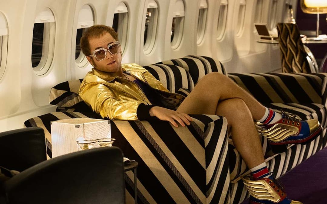 Taron Egerton as Elton John in 'Rocketman' (Credit: Paramount)
