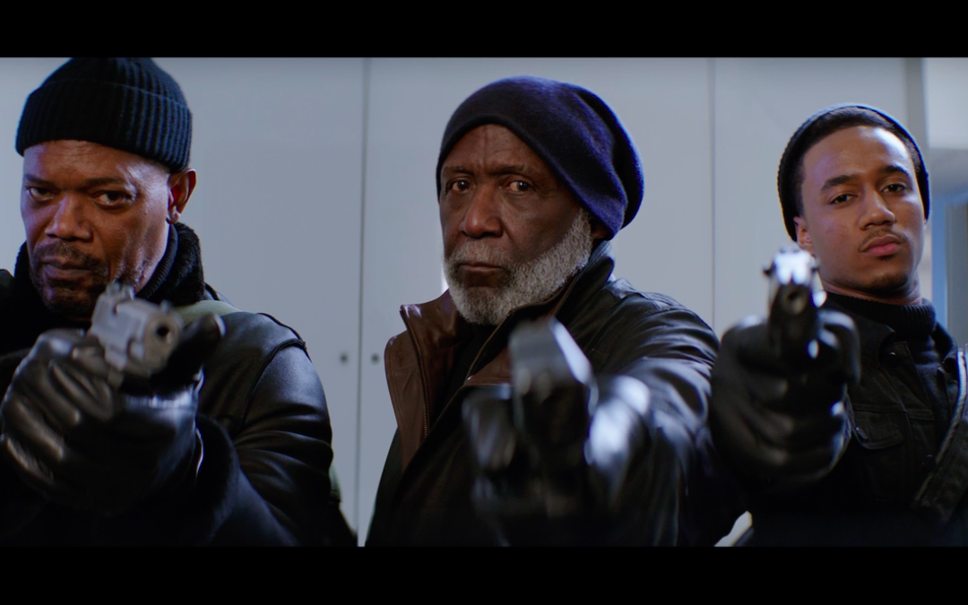Samuel L Jackson, Richard Roundtree and Jesse T. Usher in 'Shaft' (Credit: Warner Bros.)