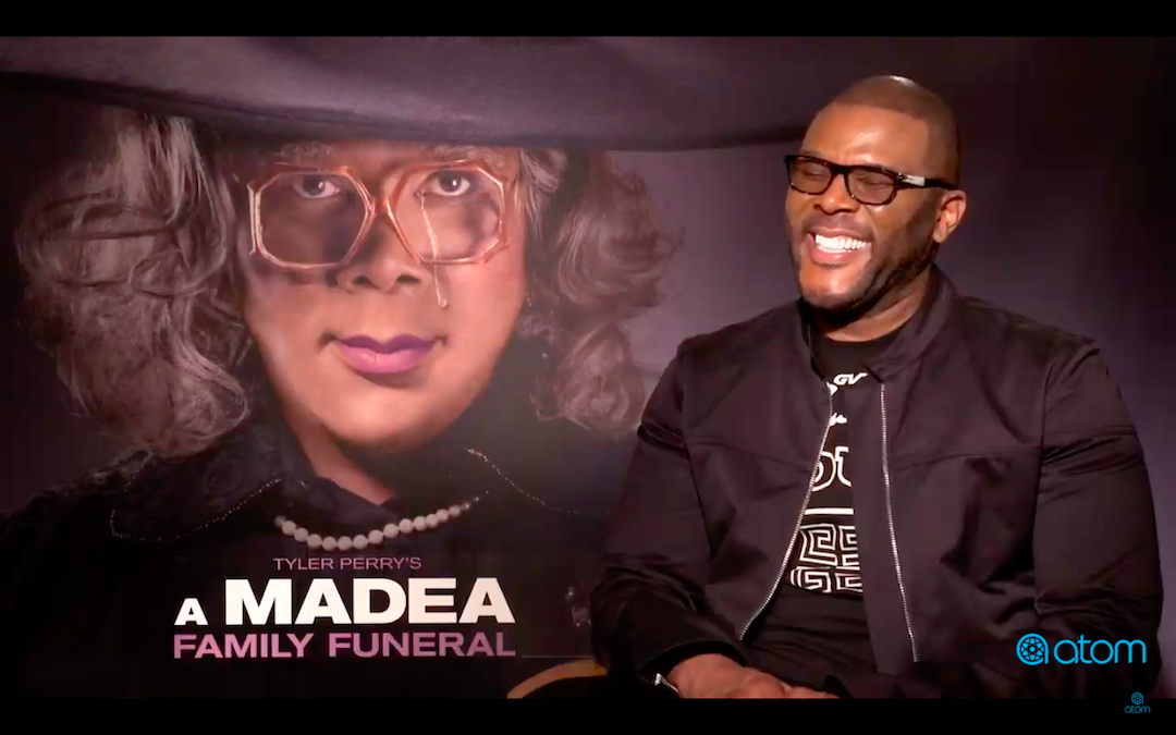 Tyler Perry sits down with Atom Tickets for a 'Madea Family Funeral' interview