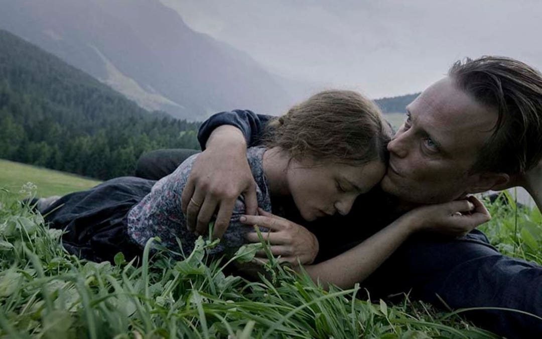 Franz Jägerstätter (August Diehl) and his wife Franziska (Valerie Pachner) in Terrence Malick's 'A Hidden Life'